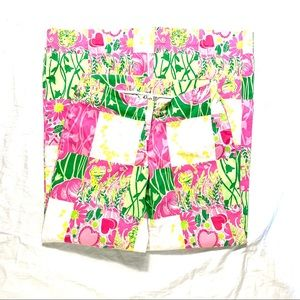 Lily Pulitzer Size 2 Pink, Green, White Pants
